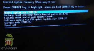 Sony NSZ-GS7 Recovery Menu